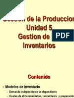 Gestión de la producción - Unidad 5