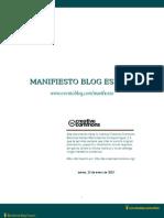 Manifiesto Blog España