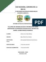 Talleres de Sencibilizacion e Informacion Sobre Disposicion de Residuos Solidos en El Distrito de Daniel Alomia Robles-huanuco