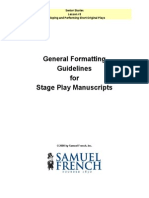 Playwriting Formatting Guidelines