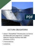 Tecnologia e Ingenieria de Los Materiales