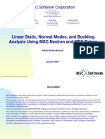 Linear Static Normal Modes and Buckling Analysis Using MSC.nastran and MSC.patran