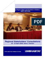 Proceedings of the Regional Stakeholders' Consultations for the Mekong Region Water and Sanitation Initiative (MEK-WATSAN)