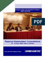 Proceedings of the Regional Stakeholders' Consultations for the Mekong Region Water and Sanitation Initiative (MEK-WATSAN)