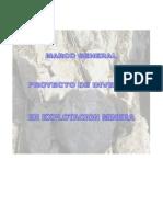 Marco General Del Proyecto de Operacion de Barita