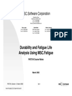 Durability and Fatigue Life Analysis Using MSC.fatigue