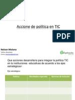 Acciones de Politica en TIC