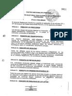 Reglamento Electoral para Elegir a las Autoridades Partidarias