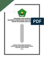 Pedoman Kaldik Madrasah Di Jateng Tp 2014-2015