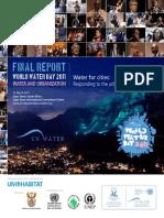 World Water Day 2011 Water and Urbanization