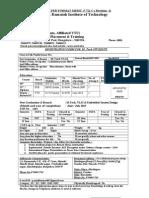 Punith Registration Form for MTech Mod