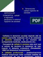 DIMENSIUNILE CALITATII
