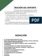 Elaboracion Del Reporte