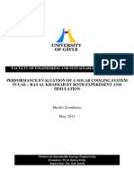 PERFORMANCE EVALUATION OF A SOLAR COOLING SYSTEM IN UAE – RAS AL KHAIMAH BY BOTH EXPERIMENT AND SIMULATION