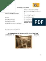 Practica n° 1 determinacion de estructuras cristalinas por difraccion de rayos X