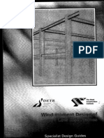 Wind Moment Design of Low Rise Frames