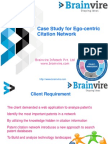 Case Study for Ego-centric Citation Network