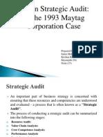 Written Strategic Audit