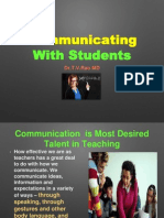 Communicating With Studentns
