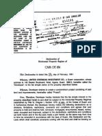 Casa de Isa - Declaration of Horizontal Property Regime of - Unprotected
