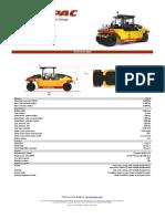 PTR CP274 Technical Data