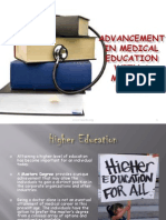Advancement in Medicine Education with a Masters Degree