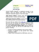 Publications Journal Citation Reports