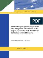 Monitoring of legislation, policies and programs