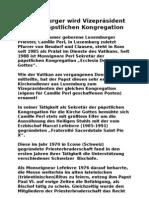 Luxemburger wird Vizepräsident einer päpstlichen Kongregation