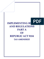 Implementing Rules Regulations