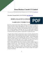 Press Release (Brian Tracy and Azim Jamal) Swahili