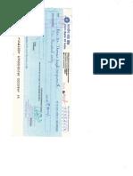 Doordarshan Cheque