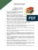 Bibliografie Proiect de Cercetare 2013-2014