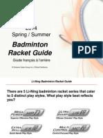 Li Ning Badminton Racket Guide