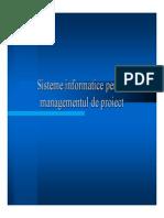 Curs Sisteme Informatice Pentru Management de Proiect
