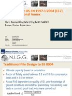 NIGG-Pile Design to BS en 1997-1 2004 (EC7) and the National Annex