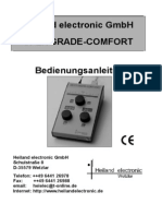 Splitgrade Comfort Bedienungsanleitung