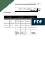 CRONOGRAMA DE ACTIVIDADES - CURSO VIRTUAL CAJAMARCA