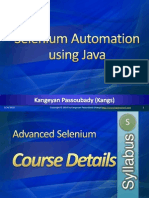 Advanced Selenium Tutorial - Course Details