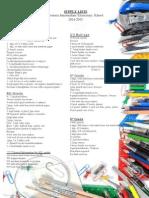 Intermediate Elementary Supply Lists