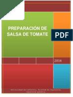 Informe Salsa de Tomate