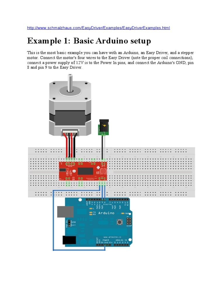 Arduino Easy Driver Electrical Engineering Stepper Motor Wiring