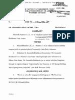 Pambra's v Dr. Leonard's - Complaint