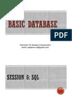 Session 6 - SQL