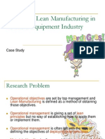 Lean Manufacturing Case Study