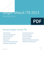 Jangan Masuk ITB 2013