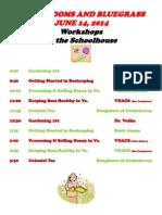 B B & B Workshops 2014 (1)