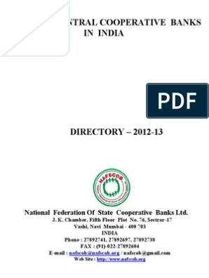 District Central Cooperative Banks in India   Business   Religion