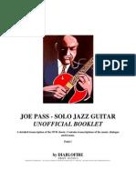 Joe Pass - Solo Jazz Guitar - Detailed Transcription (Guitar, Speech,Theory) - 18-12-2013 PRINT DRAFT
