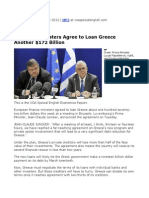 07. European Ministers Agree to Loan Greece